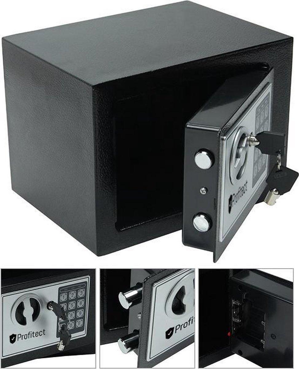 Kluisje met cijferslot - kluis elektronisch - digitale kluis met sleutelslot