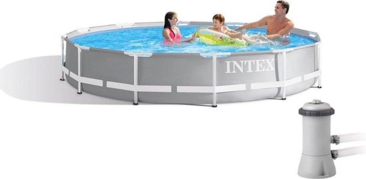 Intex Prism Frame Zwembad - 26712GN - 366 x 76 cm - Inclusief Intex Filterpomp