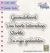 Bol Com Dtcs027 Clearstamp Dutch Texts Nellie Snellen Stempel Tekst Proficiat Gefeliciteerd