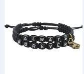 Forever & Always armband set   Hartje   Sleutel   Liefdes Cadeau   Romantisch Cadeau   Cadeau vo