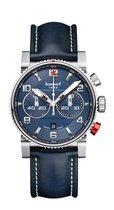 Hanhart PRIMUS Racer Horloge Blauw, blauwe lederband