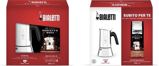 Bialetti Venus - met gratis koffie - roestvrijstaal - zilver - 4 kops