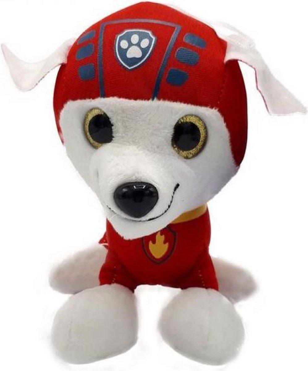 PAW Patrols - Pup Pals Marshall - Pluche Knuffel 26 cm | Paw Patrol & Friends | Chase - Rubble - Marshall - Skye - Zuma - Rocky - Ella - Tuck | Nickelodeon | Speelgoed