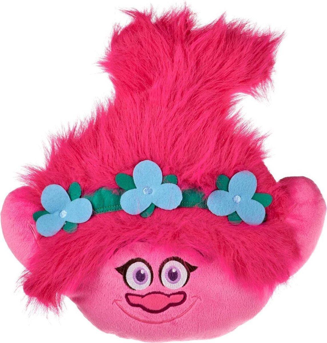 Trolls Poppy Pluche Knuffel 36 cm | Trolls Wereldtour | Trolls World tour | Roze Knuffel kussen Trols Poppie
