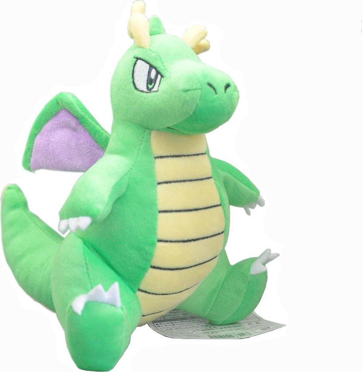 Pokemon Knuffel shiny dragonite 20 cm pluche cute en zacht - groen