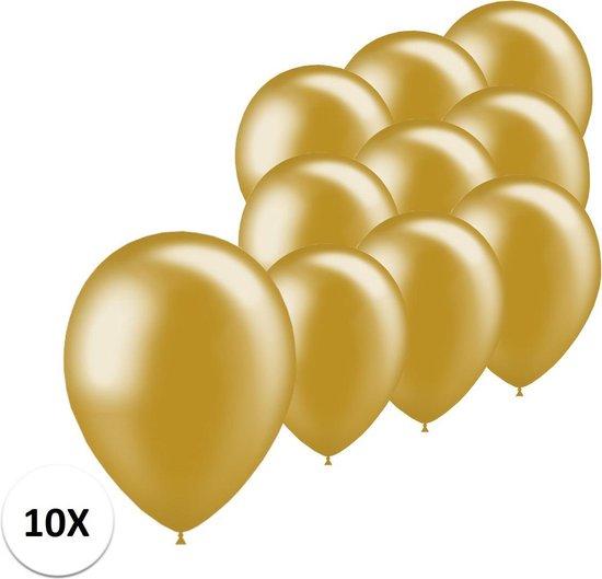 Gouden Ballonnen Feestversiering Verjaardag 10st Metallic Goud Ballon