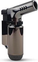 MaestroTorch Crème Brûlée Brander - Multibrander - 3-Flame - Smoke Grey