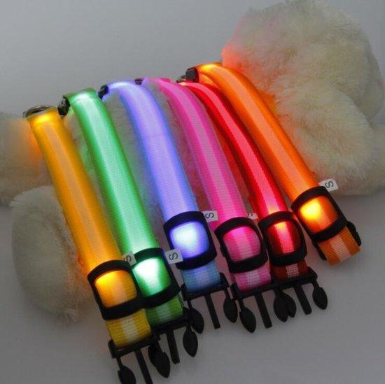 Halsband voor hond met ledlamp - Maat L