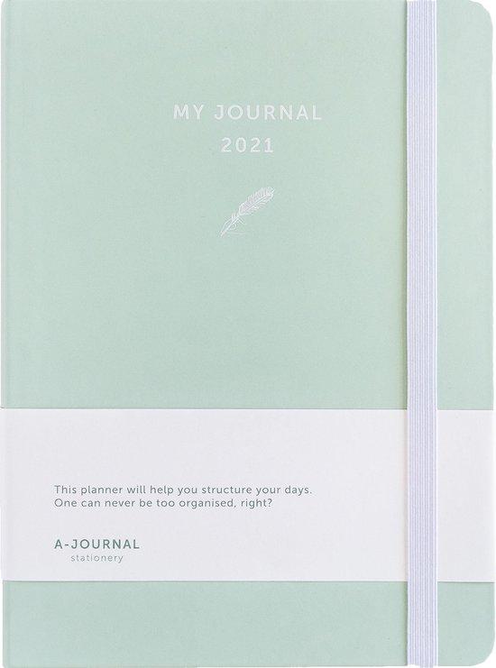 Afbeelding van My Journal Agenda 2021 - Mintgroen