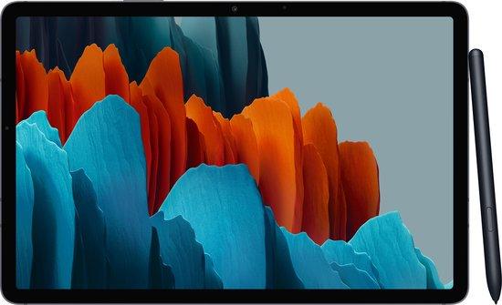 Samsung Galaxy Tab S7, Android tablet met pen, 4G, WiFi, 3 camera's, grote 8.000 mAh batterij, 11,0 inch LTPS-display, 128 GB/6 GB RAM, tablet in zwart