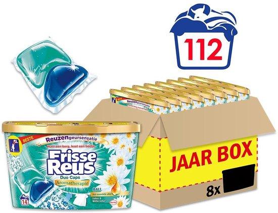 Frisse Reus Bali Duo-Caps Wascapsules - Wasmiddel Capsules - Voordeelverpakking - 8 x 14 wasbeurten