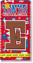 Tony's Chocolonely Melkchocolade Letterreep E - 180 Gram