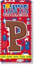 Tony's Chocolonely Melkchocolade Letterreep P - 180 gram