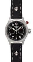 Hanhart Pioneer MonoControl Horloge Zwart, zwarte band, gladde rand