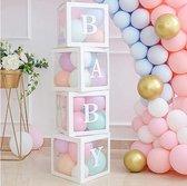 Babyshower Versiering Dozen|Gender Reveal Pakket|Geboorte Versiering Jongen en Meisje|Incl. Pastel kleur Ballonnen
