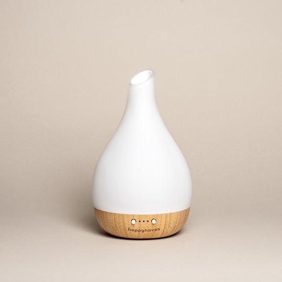 Aroma diffuser Yucca Nature van écht bamboe voor essentiële olie als vernevelaar voor ultieme aromatherapie rust (Diffuser en Lamp in 1)