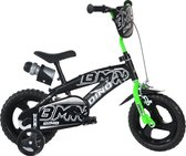 Dino Bikes Kinderfiets - BMX - Groen & Zwart: 12 inch