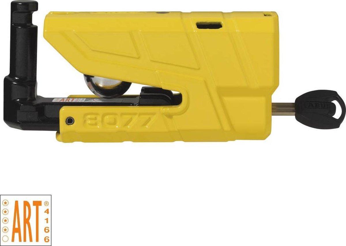 ABUS Granit Detecto 8077 Alarm Schijfremslot ART4 - Geel