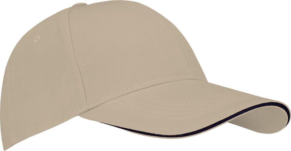 New Port Baseballcap Senior - Sandwich - Zand/Marine