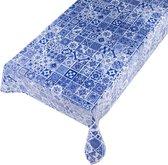 Tafelzeil Marrakech Blauw - Beschikbaar in 12 maten - PVC