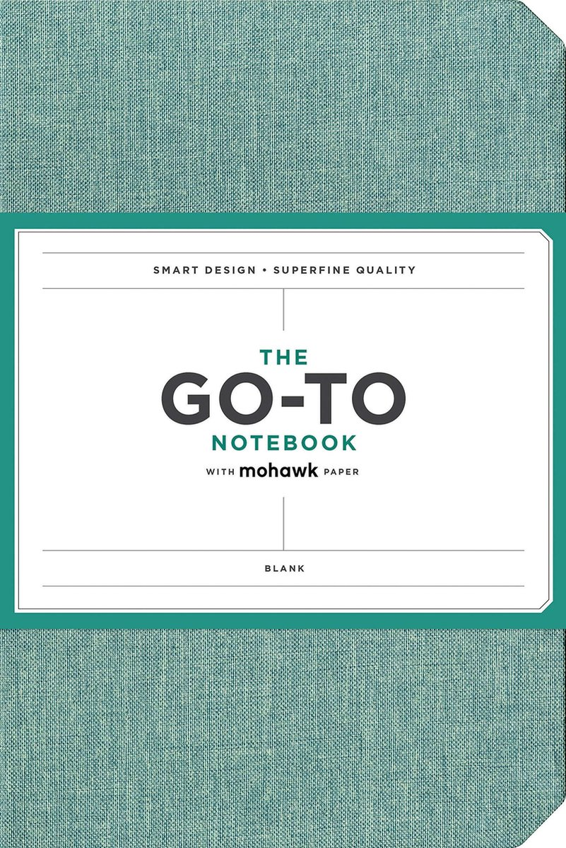 Go-To Notebook with Mohawk Paper, Sage Blue Blank