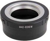 M42 Lens naar Canon EOS Lensbevestiging Stepping Ring (zwart)