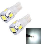 2 STKS T10 3 W SMD 5630 6 LED Auto Klaring Lichten Lamp, DC 12 V (Wit Licht)