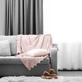 Gordijnen | Zilvergrijs | Verduisterend & Geluidswerend | Haken | 100% Polyester | 300 x 250 cm