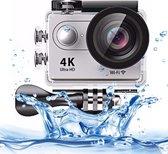 H9 4K Ultra HD1080P 12MP 2 inch LCD-scherm WiFi-sportcamera, 170 graden groothoeklens, 30 m waterdicht (zilver)