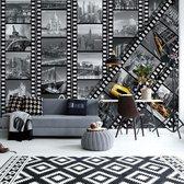 Fotobehang New York City Film Negatives | V4 - 254cm x 184cm | 130gr/m2 Vlies