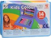 Clown Kinder Kleurkoffer - 14-delig - Multi Colour
