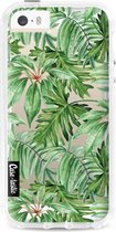 Apple iPhone 5 / iPhone 5S / iPhone SE hoesje Transparent Leaves Casetastic Smartphone Hoesje Hard Cover case
