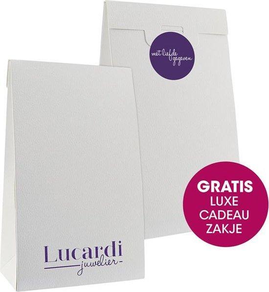Lucardi - Stalen heren zegelring met zwarte accenten - Lucardi