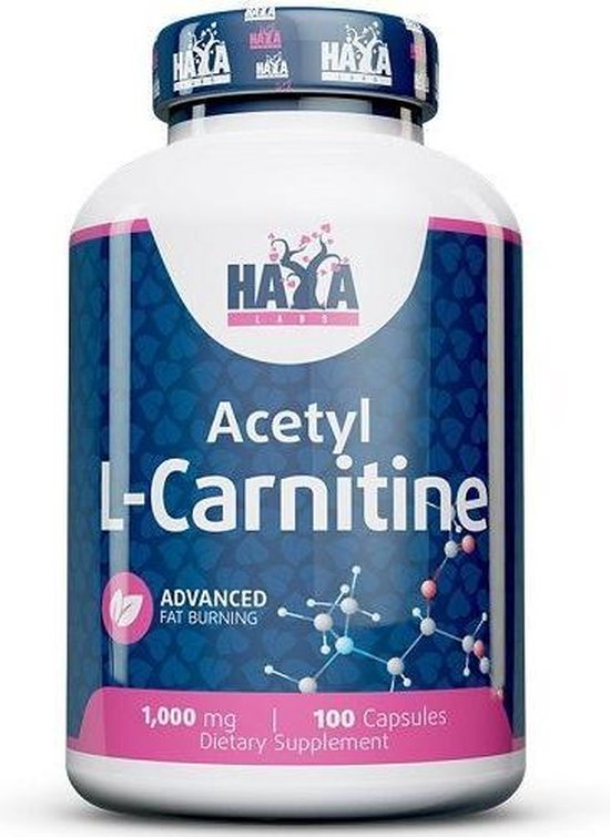 Acetyl L-Carnitine 1000mg Haya Labs 100caps