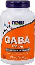 GABA 750mg Now Foods 200v-caps