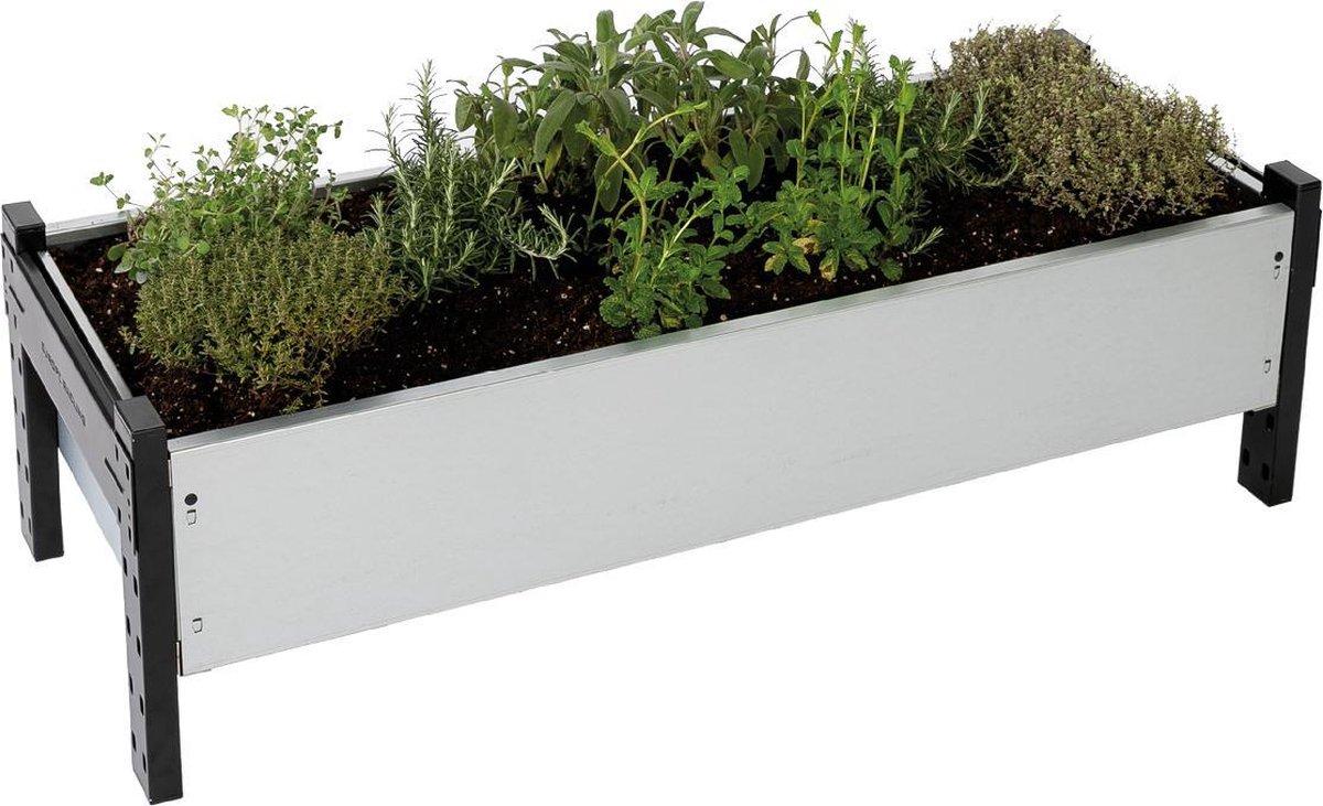 Moestuinbak 30 x 130 x 40 cm - Kweekbak - Zaden Moestuin - Moestuinieren - Roestbestendig - 3 jaar Garantie - Vertisign®