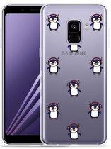 Samsung Galaxy A8 2018 Hoesje Chillin like a penguin