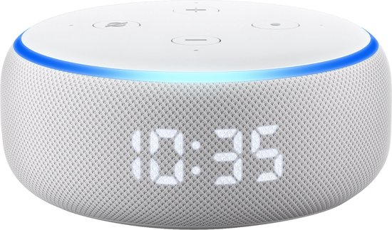 Amazon Echo Dot (3e gen.) met Klok - Wit