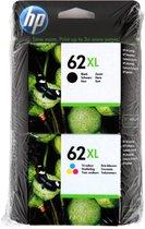 Inktcartridges HP 62XL DUO zwart + kleur