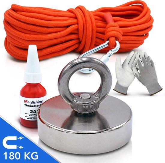 Magfishion® Magneetvissen Set - 180 KG - 10m Touw - Borgmiddel - Handschoenen