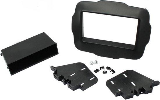 2-DIN frame met bakje Jeep Renegade 2015- Zwart