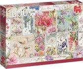 Flower Stamps Bloemen Postzegels Premium Collection Puzzel 1000 Stukjes