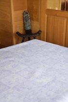 Zomerse Tafellakens - Tafelzeil - Tafelkleed - Duurzaam - Gemakkelijk in onderhoud - Opgerold op dunne rol - Geen plooien - Figuren Paars - 140cm x 160cm