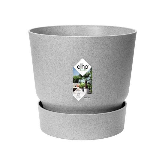 Elho Greenville Rond 30 - Bloempot - Living Concrete - Buiten - Ø 29.5 x H 27.8 cm