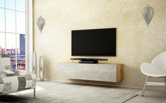 Beton Tv Meubel.Bol Com Az Home Tv Meubel Tv Kast Howard 160 Cm Eiken