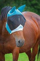 Shires vliegenmasker met oren Teal Mini Shetlander
