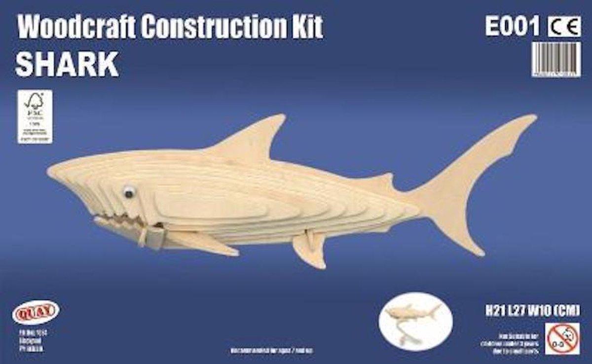 Bouwpakket 3D Puzzel Haai - hout
