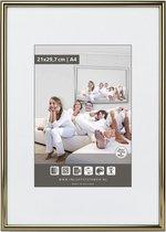 Halfronde Aluminuim Wissellijst - Fotolijst - 40x60 cm - Helder Glas - Hoogglans Donker Brons - 10 mm