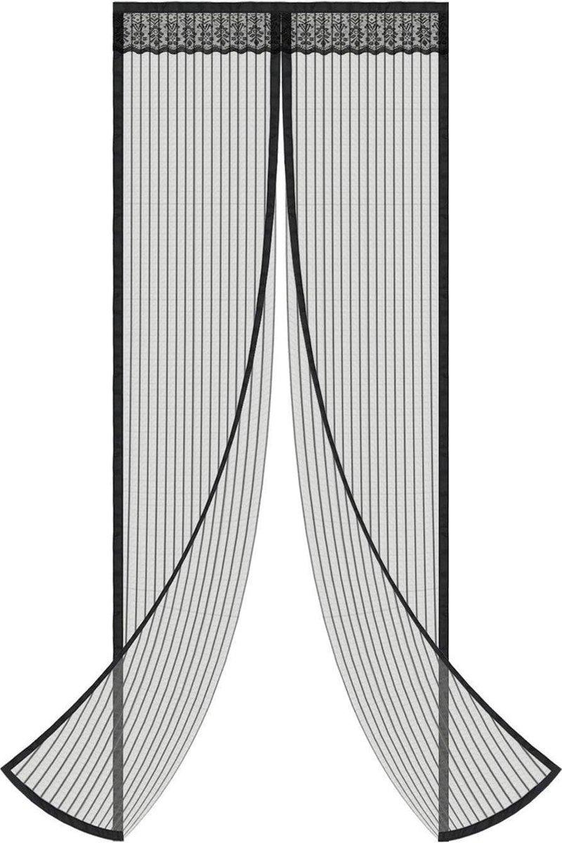 O'DADDY vliegengordijn deur magnetisch -100x230 cm – zwart