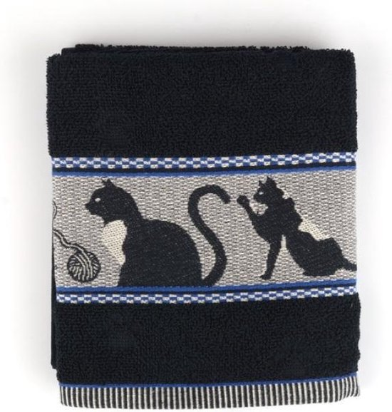 Bunzlau Castle Keukendoek Cats Black